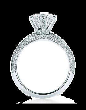 Replica Pave Tiffany Setting Engagement Ring Diamonds 2018 Newest Design Women Fine Jewelry