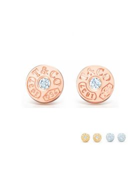 Tiffany 1837 Circle Stud Earrings Elegant Style Latest Design Friend Gift