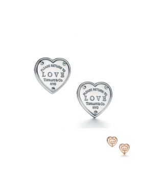Return To Tiffany Heart Love Earrings Diamonds Latest Design Fashion Girls USA