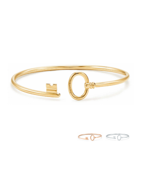 Tiffany Keys Imitation Wire Bracelet Sterling Silver Modern Design Mother's Day Fashion Jewelry GRP09190/GRP09188/GRP09189