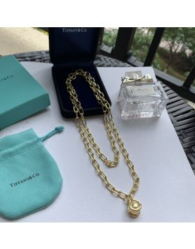 2020 New Tiffany Hardwear South Sea Golden Pearl Pendant Female Link Necklace Silver/ Yellow Gold
