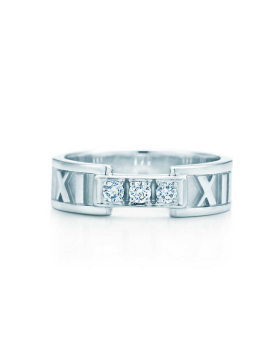 Tiffany Atlas Band With Three Crystals Individual Style For Women Valentine Gift Dubai Price GRP07933