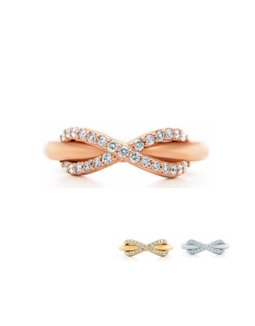 Tiffany Infinity Ring Rose Gold Modern Design New Arrival Jewelry USA GRP08689/GRP08690/GRP08688