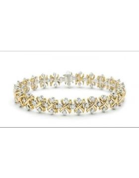 Tiffany Schlumberger Lynn Bracelet Pink/Yellow Gold Silver X Adornments Crystals Philippines Sale 2018 Office Lady 12144245/19186482
