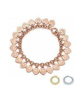 Return To Tiffany Multi–heart Tag Bracelet Sterling Silver USA Style Sale GRP08616