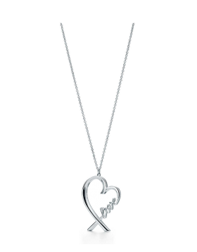 "Tiffany Paloma Picasso Heart Pendant With ""love "" Letter Chain Necklace 2018 New Trend Women 37721271"