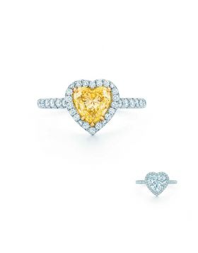 Tiffany Soleste Heart-shaped Ring Yellow/White Crystals Gorgeous Jewelry Lady Gift On Sale 28681178