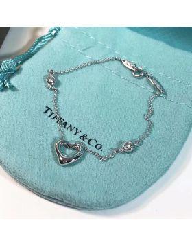 2018 Tiffany New Style Elsa Peretti Diamonds By The Yard Open Heart Ladies Silver Bracelet 31512158
