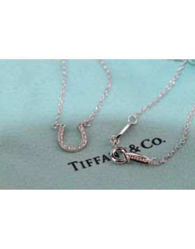 Imitation Tiffany Most Fashion Horseshoe Diamonds Pendant Womens 925 Silver Necklace For Sale 16926914