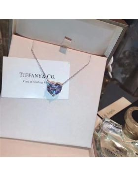 Tiffany Heart Crystals Phony Necklace Fashion Jewelry For Women USA Sale Online