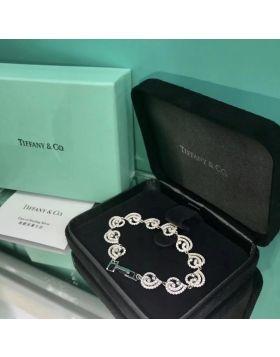 Tiffany Enchant Multi-Heart Chain Bracelet Phony Paved Diamonds Celebrity Style 2018 Fashion Women Paris Sale