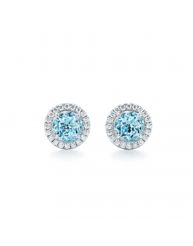 Tiffany Soleste Earrings Dupe Aquamarines Diamonds Newest Design Fashion Girls Jewelry GRP09515