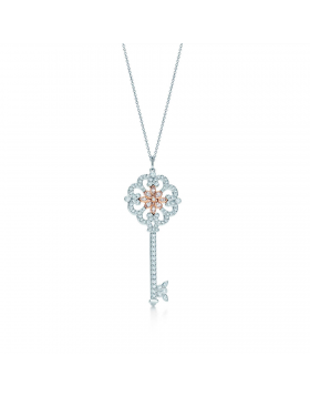 Tiffany Keys Enchant Primrose Key Pendant Necklace Gemstones Jewelry D.C. Sale Women GRP06428
