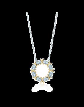 Tiffany Schlumberger Sixteen Stone Circle Pendant Chain Necklace Fine Jewelry