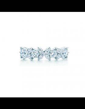 Tiffany Victoria Alternating Ring Diamonds Latest Design 925 Silver USA Sale Fashion GRP03666