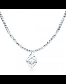 Return To Tiffany Replica Bead Chain Necklace Heart Tag Charm Fashion Jewelry Sale GRP03891