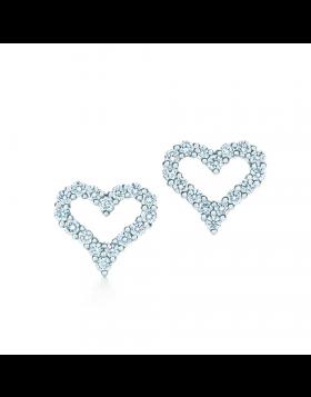 Tiffany & Co. Dupe Diamond Heart Stud Earrings Female New Fashion Fine Jewelry 61101268