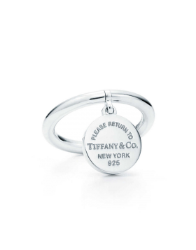 Wholesale Return To Tiffany Round Tag Pendant Sterling Silver Ring Fashion Design GRP08669