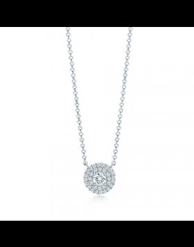 Replica Tiffany Soleste Sterling Silver Chain Necklace Round Diamonds USA Sale Jewelry 28646445