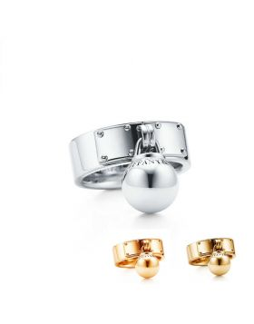 Tiffany HardWear Ball Dangle Ring Replica New Arrival Jewelry Best Gift GRP09434/GRP09436