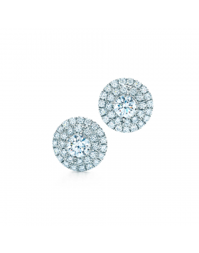 Tiffany Soleste Earrings Round Diamonds Dinner Party Best Choice Top Selling Girls 28646453