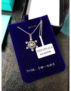 Tiffany Snowflake Charm Chain Necklace Sterling Silver Price 2018 USA Women Gift GRP03012
