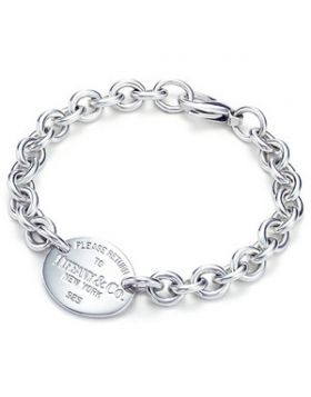 Return To Tiffany Thick Chain Oval Tag Bracelet Sterling Silver New Arrival America Women Men
