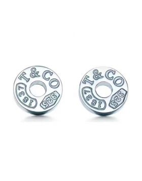 Replica Tiffany 1837 Circle Diamond Ear-stud Sterling Silver Couple Style For Sale Gift USA 19710424