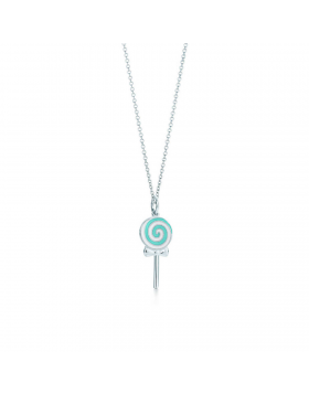 Tiffany Lollipop Charm Chain Necklace Sterling Silver Girls Gifts Jewelry GRP06189