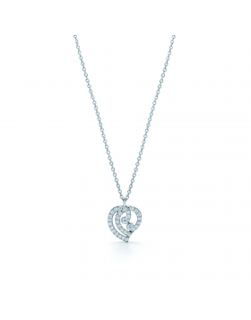 High-end Tiffany Enchant Heart Pendant Necklace Sterling Silver Diamonds Mother's Day Gift 33725876