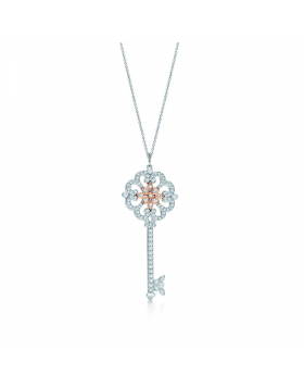 Tiffany Keys Enchant Primrose Key Pendant Necklace Gemstones Jewelry D.C. Sale Women GRP06428