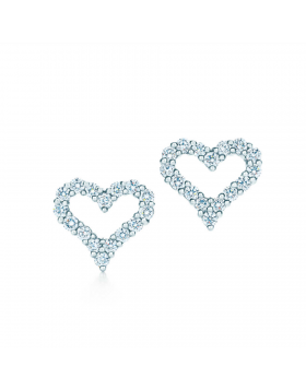 Tiffany & Co. Dupe Diamond Heart Stud Earrings Female New Fashion Fine Jewelry 61101268