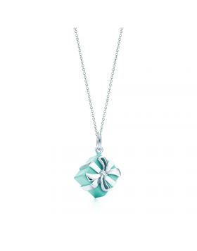 Tiffany Blue Box Charm Sterling Silver Chain Necklace Birthday Gift USA Sale GRP02059