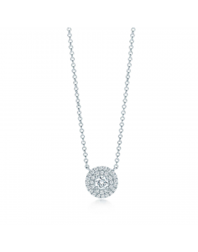 Replica Tiffany Soleste Sterling Silver Chain Necklace Round Diamonds USA Sale Jewelry 28646445