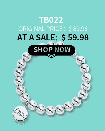 TIFFANY COPY PALOMA'S GRAFFITI BEAD CHAIN LOVE & HEART DOUBLE SURFACE TAG BRACELET